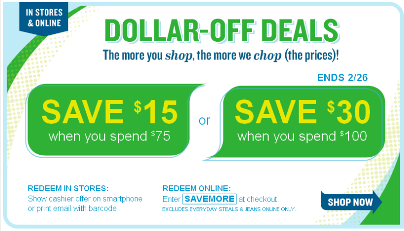 Offer Valid at Old Navy Stores in Canada and at Old Navy Online. Excludes Women's Plus and Maternity. select Styles Only. No Adjustments on Previous Purchases. Cannot be Combined with Other Offers or Discounts, Including Gap Inc. Employee Discount.