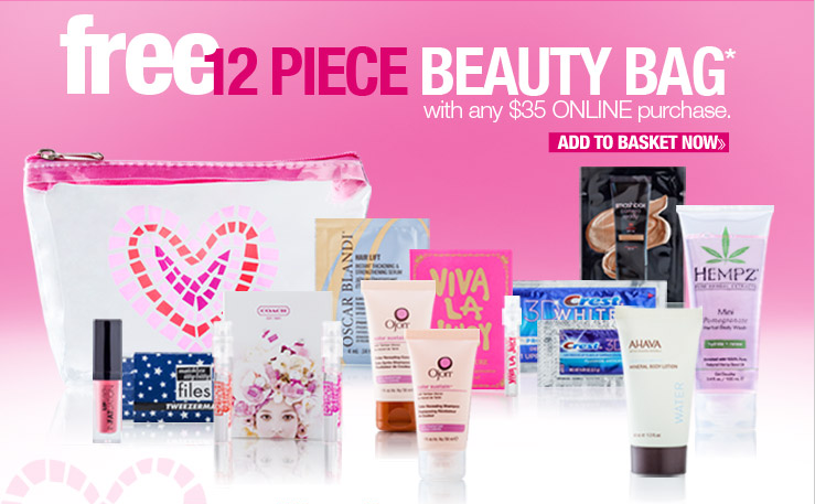 Free 12 Piece Beauty Bag with $35 Purchase at Ulta | Urban Chic Deals